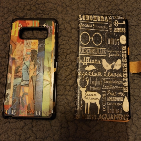 Two Harry Potter Samsung Note 8 cases